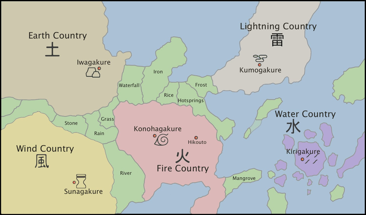 Map of the world of ANBU Legacy.